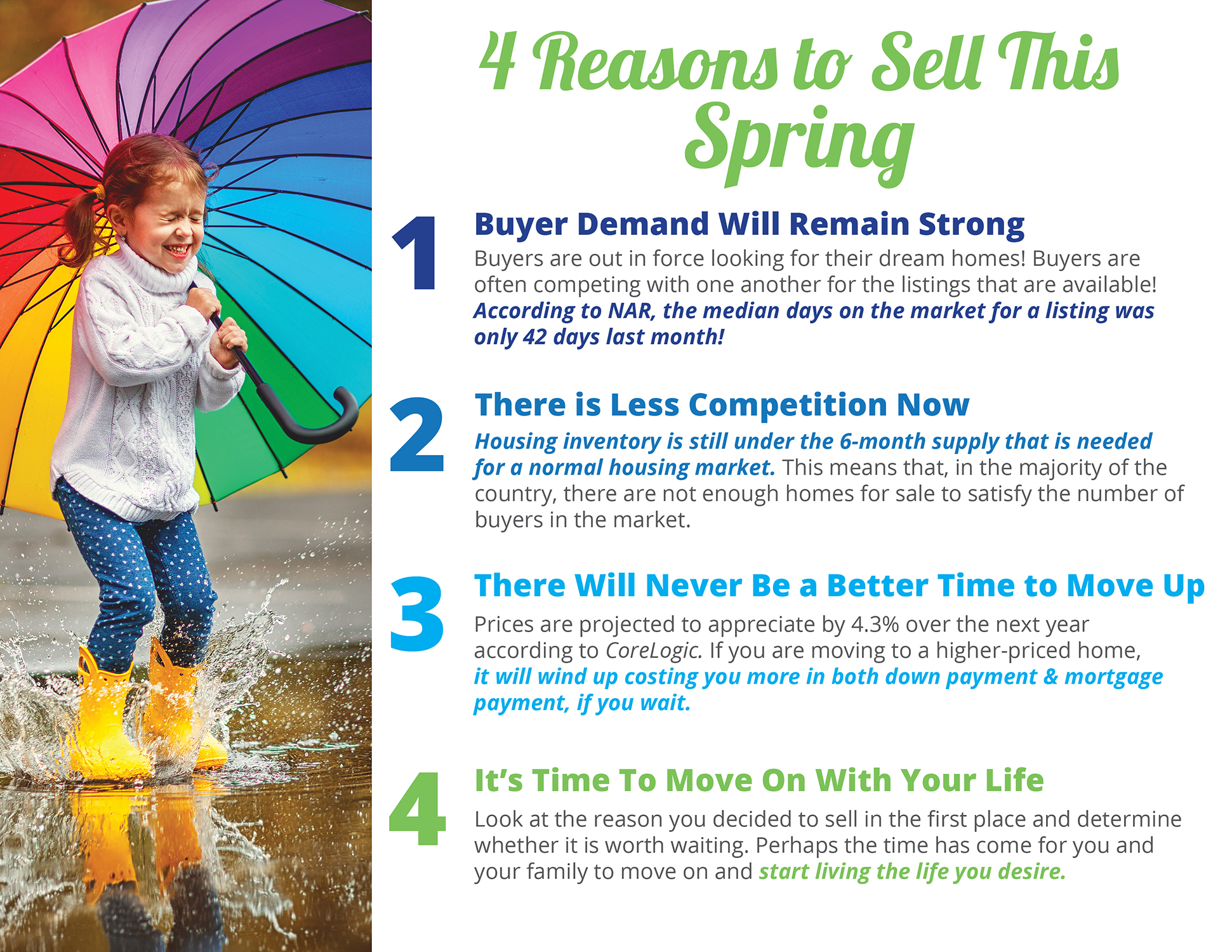 4 Reasons to Sell This Spring [INFOGRAPHIC] | Bridge Builders