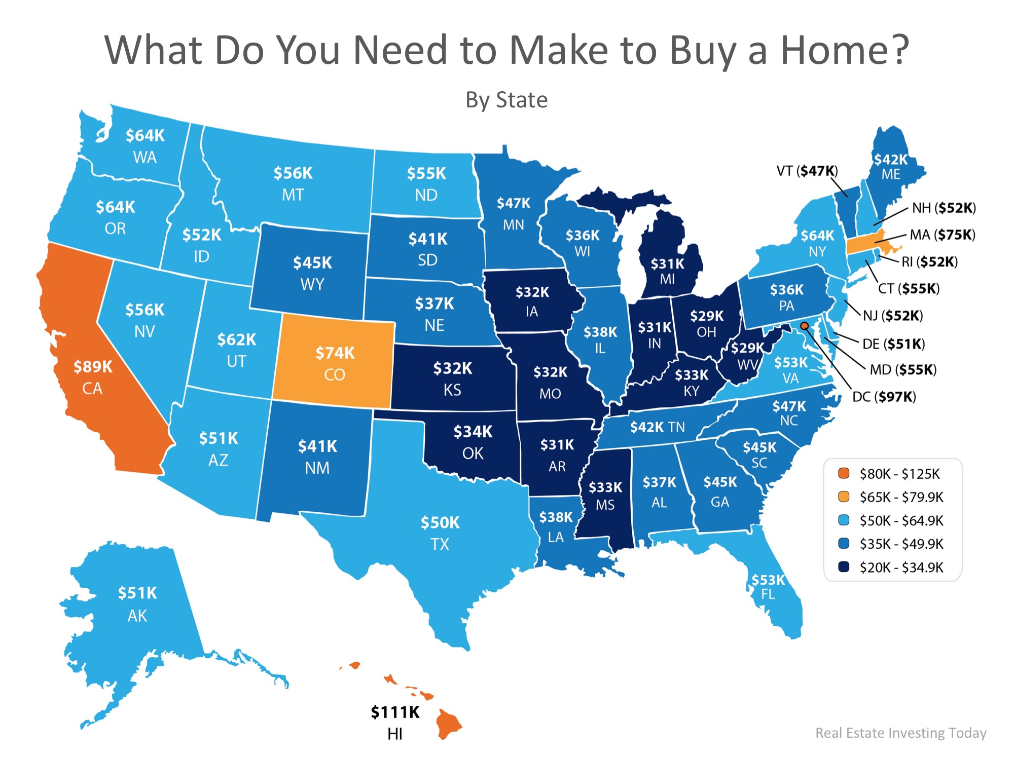 How Much Do You Need to Make to Buy a Home in Your State?   Bridge Builders