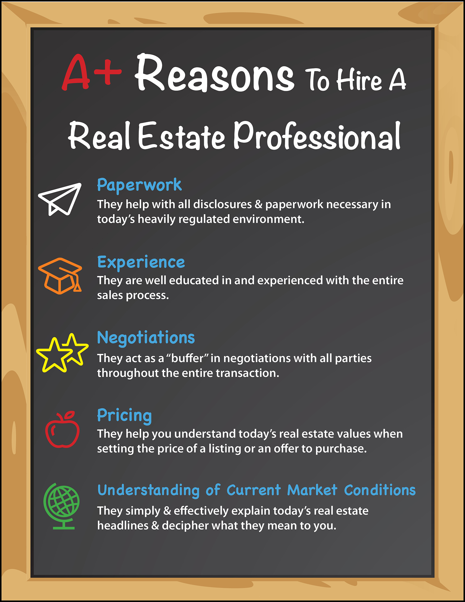 A+ Reasons to Hire a Real Estate Pro [INFOGRAPHIC] | Bridge Builders