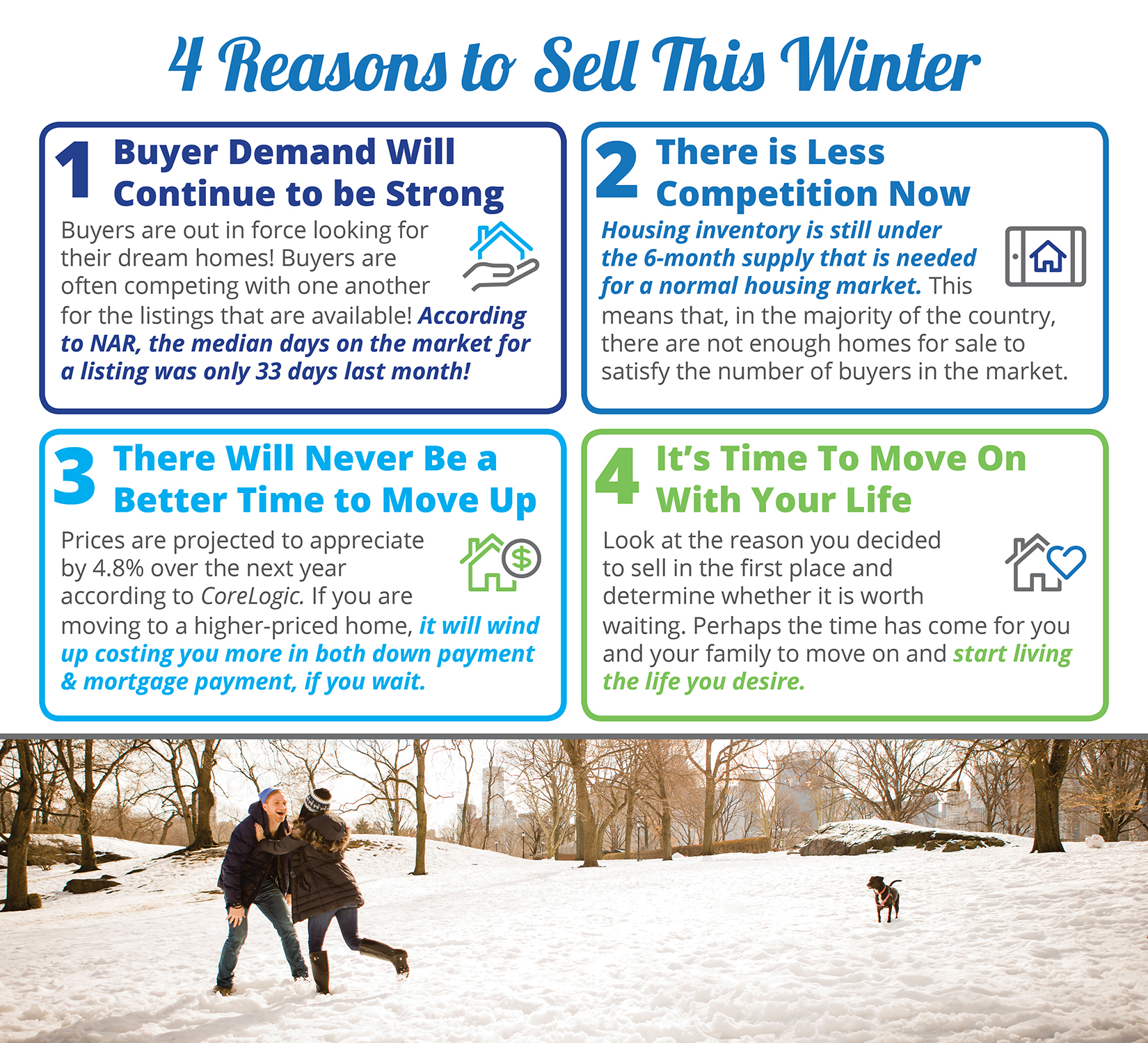 4 Reasons to Sell Your House This Winter [INFOGRAPHIC] | Bridge Builders