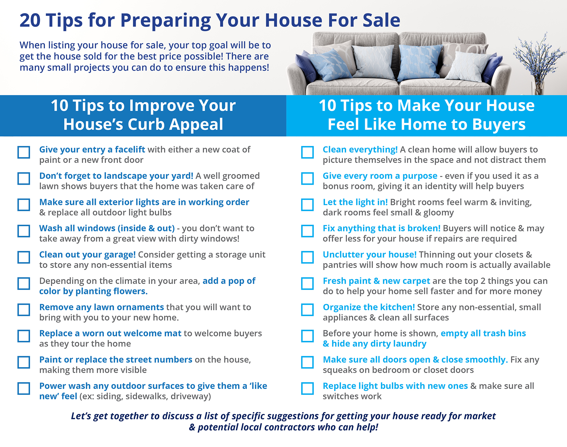 20 Tips for Preparing Your House for Sale This Spring [INFOGRAPHIC] | Bridge Builders
