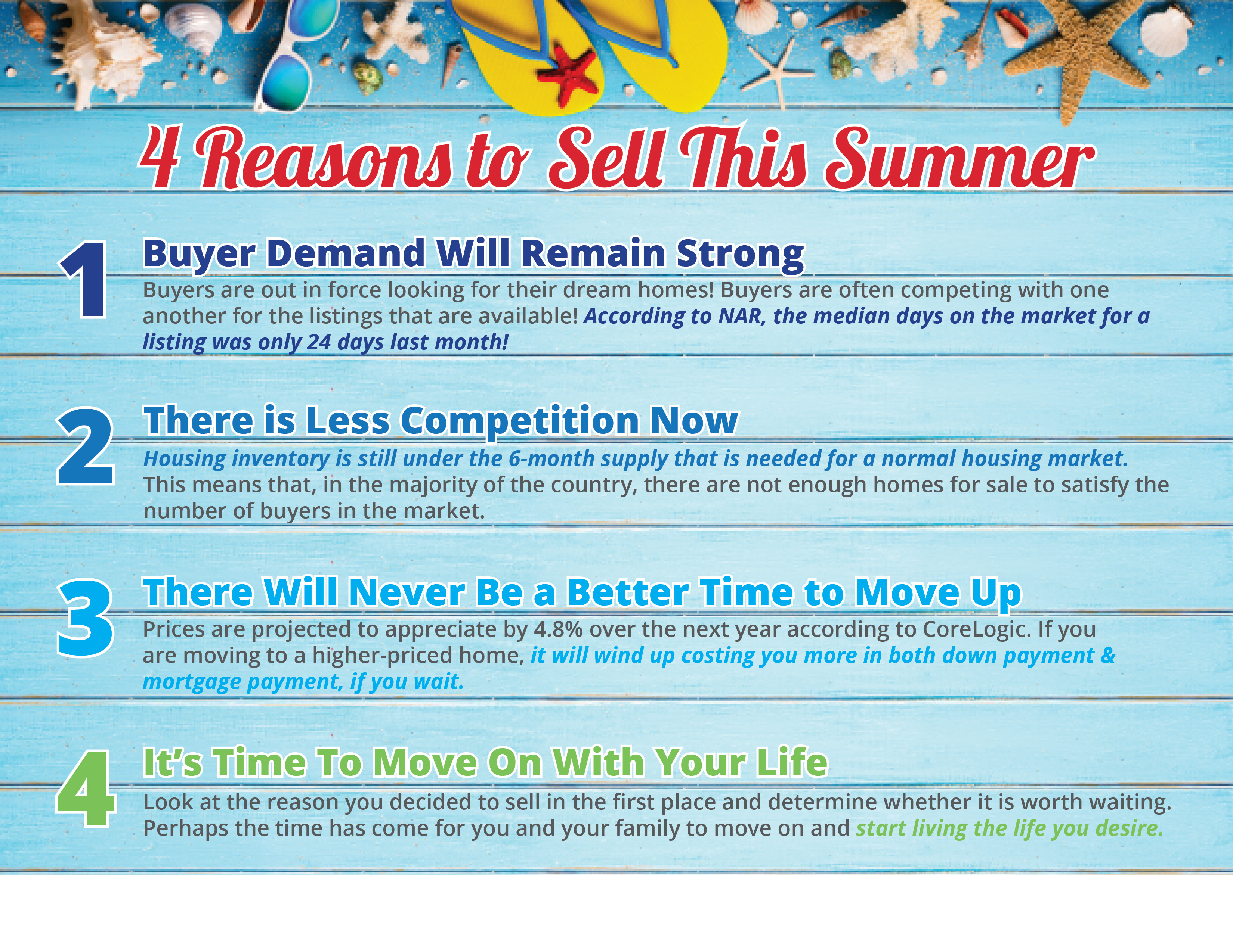 4 Reasons to Sell this Summer [INFOGRAPHIC] | Bridge Builders