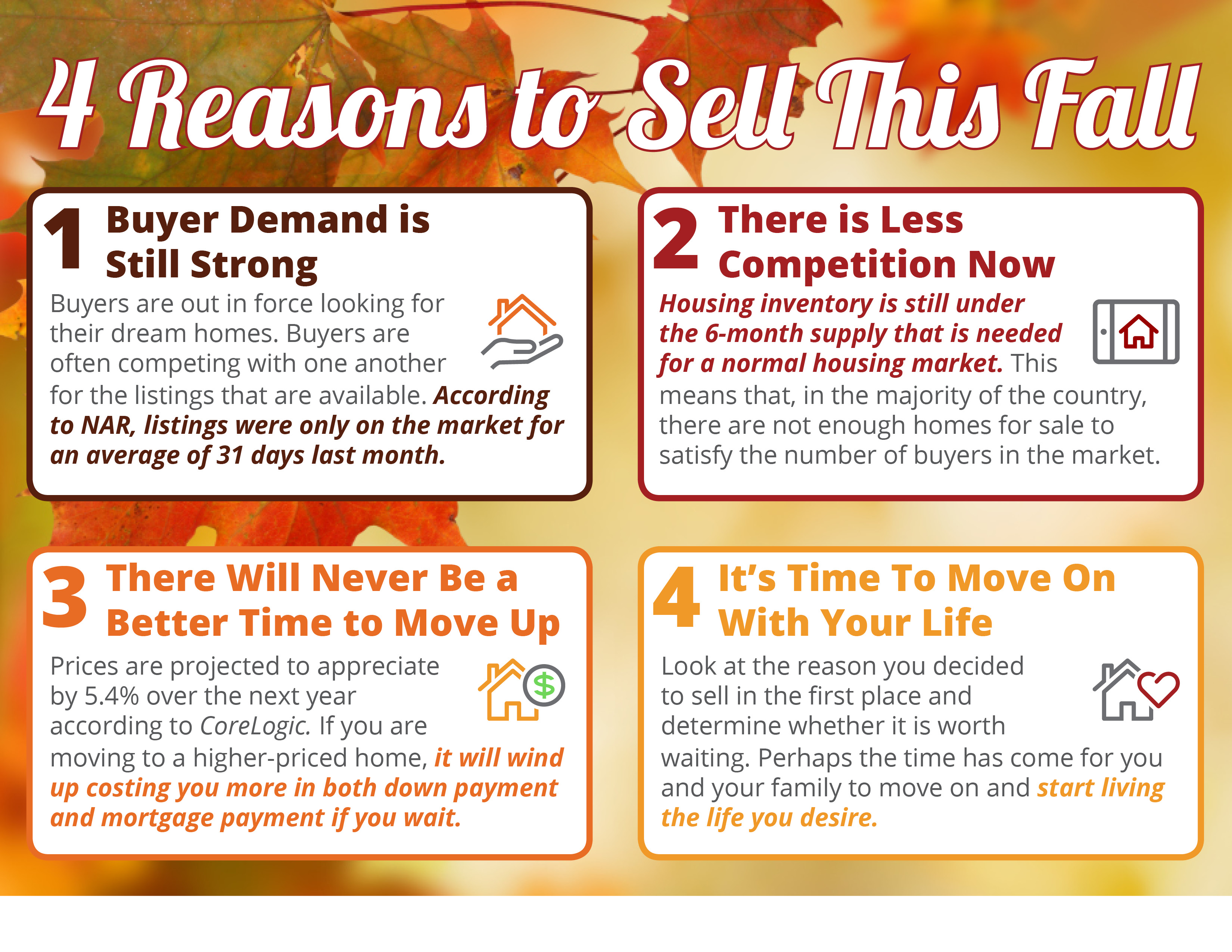 4 Reasons to Sell This Fall [INFOGRAPHIC] | Bridge Builders