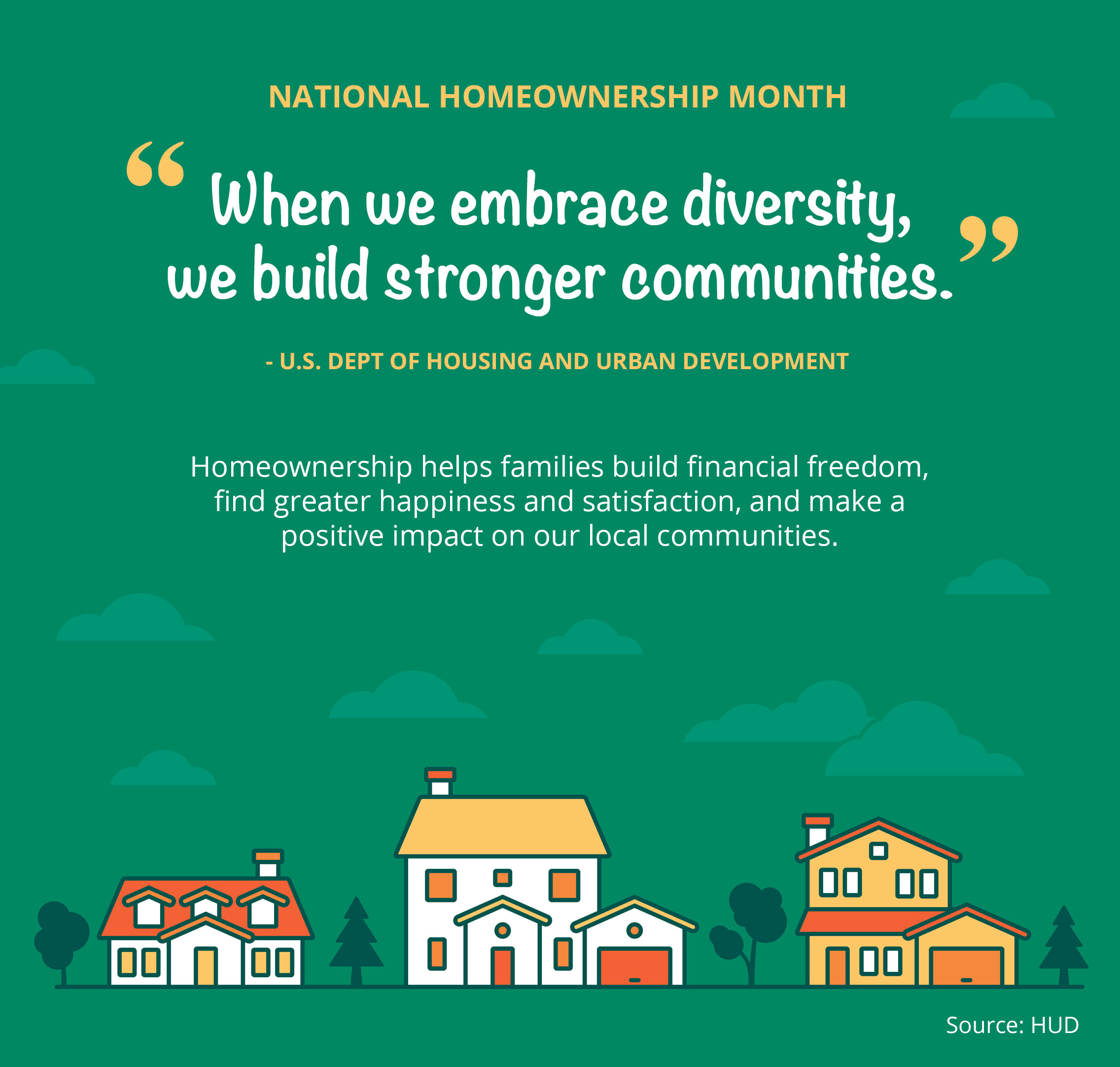 National Homeownership Month [INFOGRAPHIC] | Bridge Builders