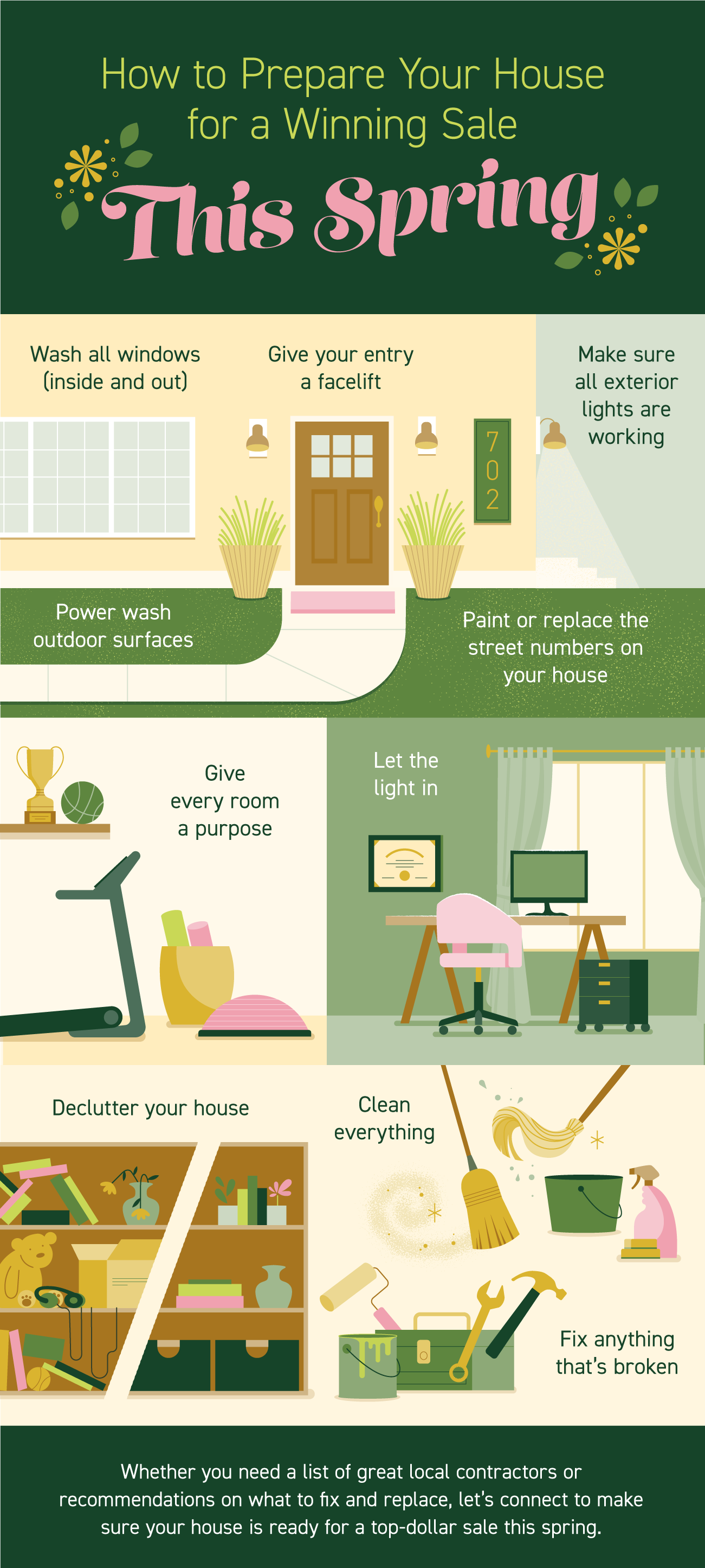How to Prepare Your House for a Winning Sale This Spring [INFOGRAPHIC] | Bridge Builders