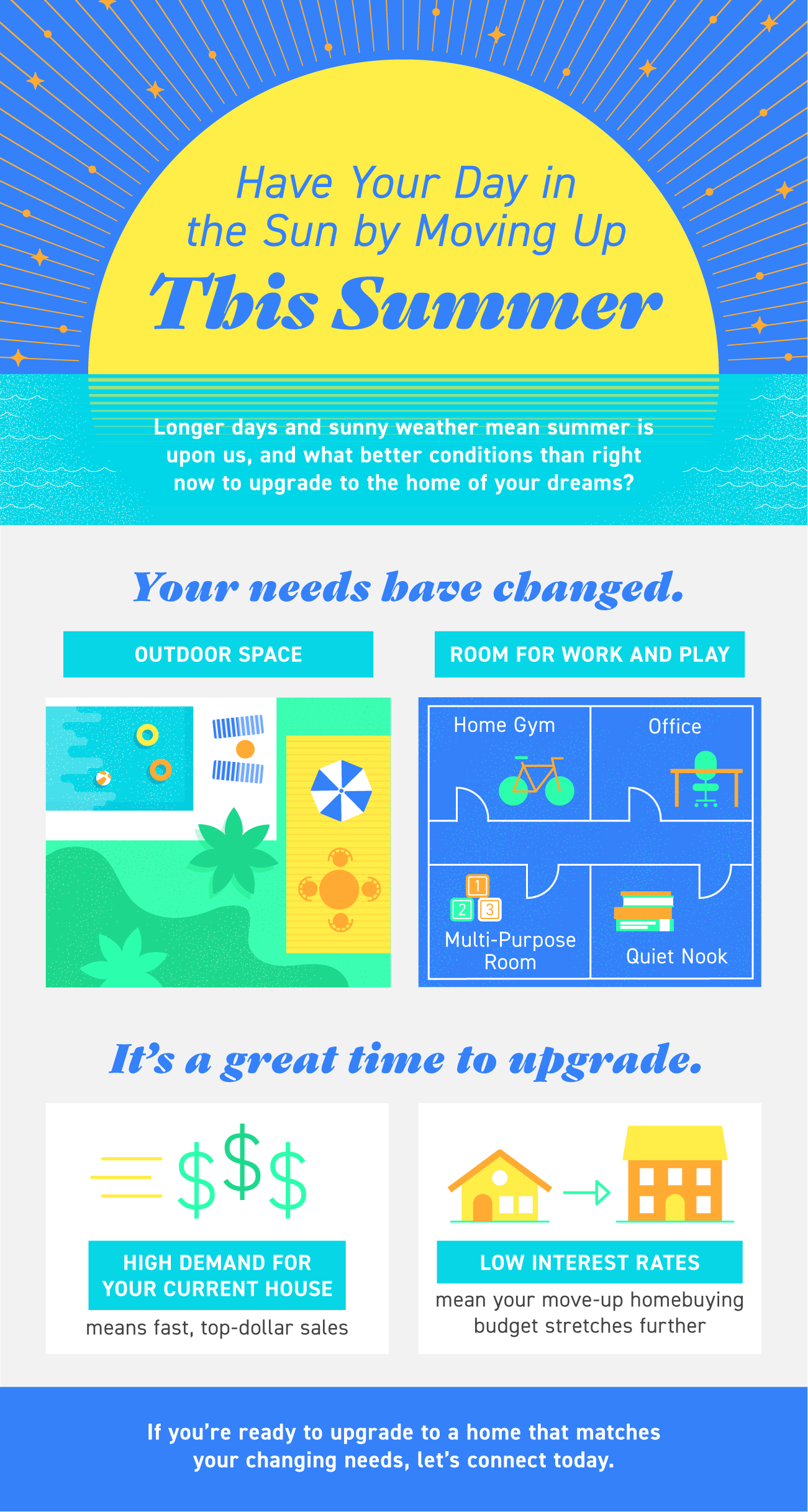 Have Your Day in the Sun by Moving Up This Summer [INFOGRAPHIC] | Bridge Builders